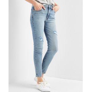 Gap Denim Super High Rise True Skinny Ankle Jeans